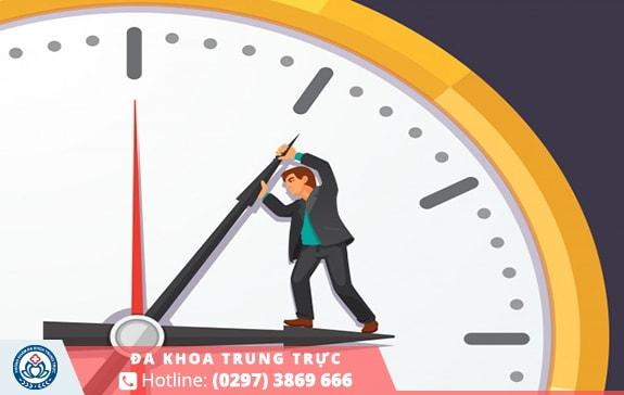 Thời gian quan hệ ngắn dưới 3 phút