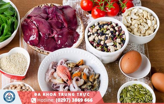Thực phẩm có chứa chất sắt là điều vô cùng cần thiết khi mắc phải bệnh trĩ