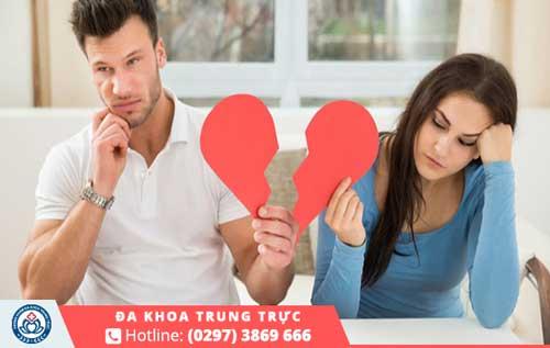 Nam giới có nguy cơ vô sinh rất cao và dẫn đến tình cảm rạn nứt