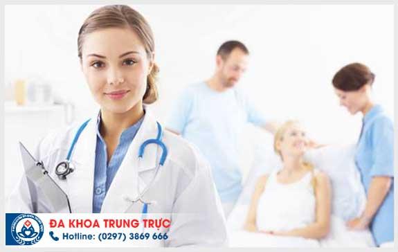hut thai chan khong an toan tai Da khoa Trung Truc